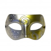 Masquerade Mask - Silver And Gold Swirl