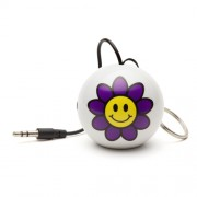 Boxa portabila KitSound Trendz Mini Buddy Flower, KSNMBFLW, Alb