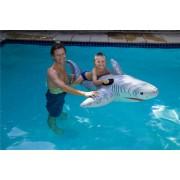 AquaFun White Shark Ride On Swimming Pool Toy / Float - 185 cm
