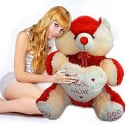 3.5 feet (10) Big Teddy Bear colour Red