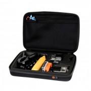 Geanta pentru transport impermeabila, antisoc, marime XL pentru GoPro (Negru)