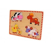 Wood 'n' Fun Wooden Farm Match Mother and Baby Puzzle