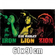 POSTER BOB MARLEY IRON LION ZION - En Promotion : -%
