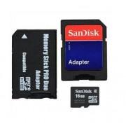 SanDisk - Carte mémoire flash (adaptateur microSDHC - SD inclus(e)) - 16 Go - Class 2 - microSDHC - noir