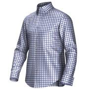 Maatoverhemd wit/blauw 53198