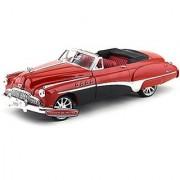 Motormax 1:18 Red & Black 1949 Buick Road master Custom Vehicle Red/Black
