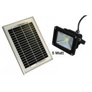 Faro a led con pannello solare faro luce fredda 5 W risparmio energetico 9V