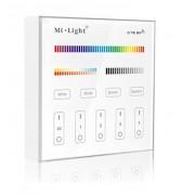Vezeték nélküli , fali , érintős, vezérlő, RGB + hideg-meleg fehér (CCT) 2,4 GHz
