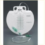 Bard 153509 Bedside Drainage Bag, Large 4000mL, Anti-Reflux Chamber, Double Hanger - Case of 20