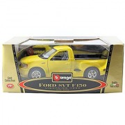 Burago Gold Collection 1:21 Scale - Ford SVT F150 1999 Lightning Pickup Truck in Yellow - Made it Italy