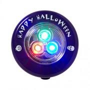 Heitmann Deco 7094 House of Halloween - Luce LED per zucca, funzionamento a batteria, colore luce: Multicolore