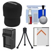 Essentials Bundle for Sony Cyber-Shot DSC-QX100 Smartphone Attachable Lens-Style Camera with Case + NP-BN1 Battery & Charger + Flex Tripod Kit