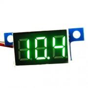 Zelený Mini Voltmeter na šróby 0-100V