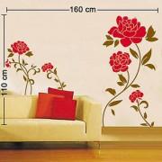 Walltola Red Flower Wall Decal