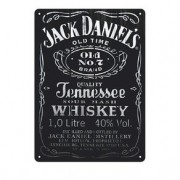 Placa Decorativa em MDF Whisky Jack Daniels Rotulo