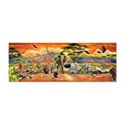 Melissa & Doug African Plains Safari Jumbo Jigsaw Floor Puzzle (100 pcs, over 1 meter long)