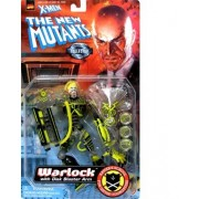 WARLOCK w/ Disk Blaster Arm X-MEN THE NEW MUTANTS Marvel Collector Edition Action Figure by Toy Biz
