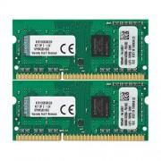 Kingston KVR13S9S8K2/8 Memoria RAM da 8 GB, Kit 2x4 GB, 1333 MHz, DDR3, Non-ECC CL9 SODIMM, 204-pin, 1.5 V