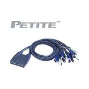 Aten CS-64U Petite 4 Port USB KVM Switch with Audio Cables