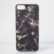 River Island Womens Black marble phone case