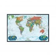 Harta lumii Planiglob decorativ, mare laminat National Geographic