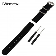 Genuine Nylon Watchband +Tool for Garmin Fenix 5S / 5 / Epix / Vivoactive HR Watch Band Zulu Strap Wrist Bracelet Black Colorful
