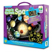 Puzzle Doubles! Glow in the Dark Space 100 Piece Floor Puzzle