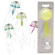 EBI AQUA DELLA Jellyfish 6x6x18cm Small color mix plovoucí medúza