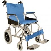 sedia a rotelle / carrozzina in alluminio queen - blu