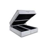 Conjunto Box Baú Colchão Ortobom Molas Pocket Freedom + Cama Box Baú Courino Bianco - Conjunto Box Casal - 138 x 188