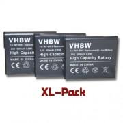 vhbw set 3 batteries 600mAh appareil photo Sony Cybershot DSC-W530,DSC-W560, DSC-W570,DSC-W610, DSC-W620, DSC-W630, DSC-W650, DSC-W670 remplace NP-BN1