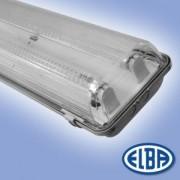 Por és páramentes lámpa FIPAD 05 LED 2x15W polikarbonát búra, ledes fénycső nélkül IP65 Elba