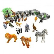 Generic Rain Forest Jungle Animals Figurines & Farm Animal Toys safari animal figures -Assorted 32 pcs animals n trees n