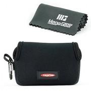 MegaGear Ultra Light Neoprene Camera Case Bag with Carabiner for Canon PowerShot G7X Canon PowerShot G7 X Mark II Camer
