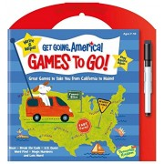 Peaceable Kingdom Get Going, America Write And Wipe Games To Go! Activity Book
