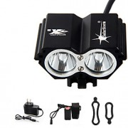 Lanternas de Cabeça / Luzes de Bicicleta / Luz Frontal para Bicicleta LED 5000 Lumens 4.0 Modo Cree XM-L T6Prova-de-Água / Recarregável /