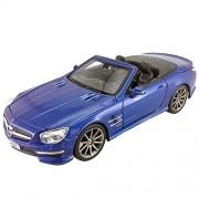Maisto 31503 - 2012 Mercedes Benz SL AMG 63 Modellino, Convertibile, Scala 1:24, Colori Assortiti: Rosso/Blu