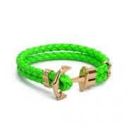 Zöld színű horgonyos karkötő
