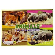 Ideal Play & Learn Animals Zigsaw Puzzle Children Learning Creativity Game