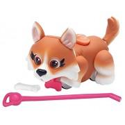 Giochi Preziosi - Pet Parade, Cucciolo di Cane, Razza Corgi con Osso e Guinzaglio, Marrone