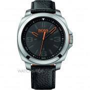 Hugo Boss Men's 1513095 Black Leather Quartz Watch