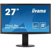 "Monitor TN iiyama 27"" ProLite B2780HSU-B1, Full HD, HDMI, DVI-D, 2ms, Boxe (Negru) + Bitdefender Antivirus Plus 2017, 1 PC, 1 an, Licenta noua, Scratch Card"