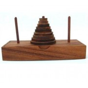 Tower of Hanoi Wooden Brain Teaser Puzzle by Winshare Puzzles and Games