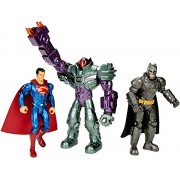 Mattel - Batman V Superman - DHY28 - Batman Superman & Lex Luthor - 3 Figurines Articulées