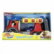 Chicco 00000390000000 Turbo Touch Speedtruck - Camión con luz y sonido para aprender la importancia de los semáforos