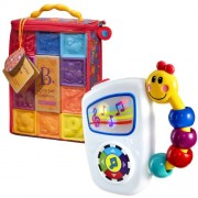 B. One Two Squeeze Blocks with Take Along Tunes Musical Toy by B.