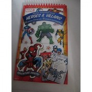 Sticker Adventure Book Heroes & Villains 410 Stickers 4 Snap Outs 10 Activity & Journalizing Pages