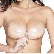 Oolala 4.5 Star Backless Adhesive Sticky Strapless Silicone Pushup Bra, Nude, Medium