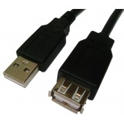 Cabo Extensor USB A Macho / A Femea 3 metros - Preto MD9