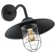 EGLO Muurlamp voor buiten Melgoa 60 W zwart 94792